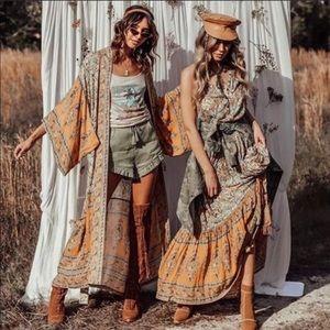 Vintage Canyon Inspired Bohemian Gypsy Kimono